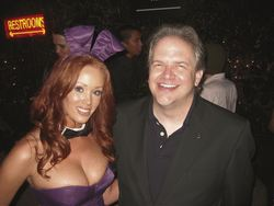 Influence, Persuasion, Body Language Expert Kevin Hogan and Playboy Bunny at the Playboy Mansion 08-17-07