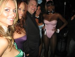 Kevin Hogan and Playboy Bunnies at the Mansion