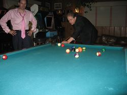 Playing Pool at the Playboy Mansion