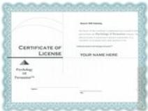 Kevin Hogan Licensure Certificate