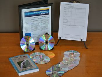 Tinnitus Reduction CD/DVD Program and the book, Tinnitus: Turning Down the Volume contains the methods and tools CD's specifically designed by Kevin Hogan which assisted him in the elimination of his tinnitus.
