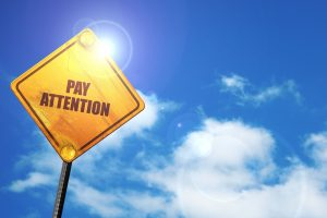 Pay Attention to Your Behavior